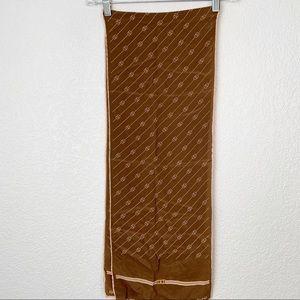 Vintage Gucci Brown Monogram Scarf